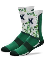 Xavier Musketeers St Pattys Day Mens Crew Socks