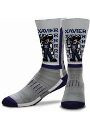 Xavier Musketeers Navy Blue Mascot Youth Crew Socks