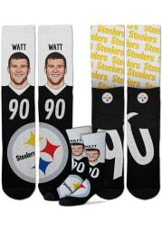 TJ Watt Pittsburgh Steelers Champ Mens Crew Socks
