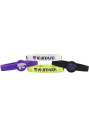 K-State Wildcats 4pk Silicone Emblem Kids Bracelet