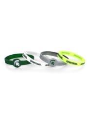 Michigan State Spartans 4pk Silicone Emblem Kids Bracelet
