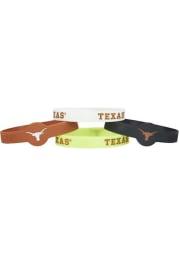 Texas Longhorns 4pk Silicone Emblem Kids Bracelet