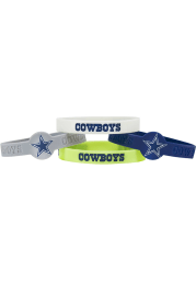 Dallas Cowboys 4pk Silicone Emblem Kids Bracelet