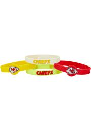 Kansas City Chiefs 4pk Silicone Emblem Kids Bracelet