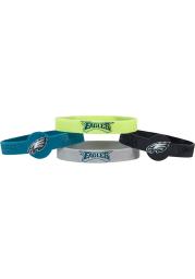 Philadelphia Eagles 4pk Silicone Emblem Kids Bracelet