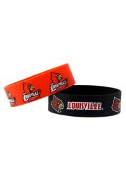 Louisville Cardinals 2 Pack Silicone Kids Bracelet