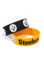 Pittsburgh Steelers 2pk Bulky Bands Kids Bracelet
