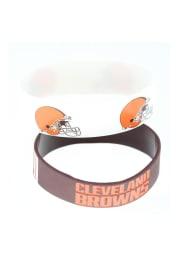 Cleveland Browns 2pk Bulky Bands Kids Bracelet