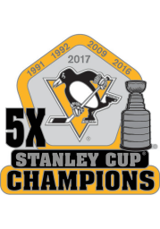 Pittsburgh Penguins Souvenir Stanley Cup Champions Pin