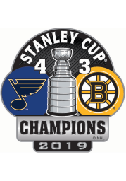 St Louis Blues Souvenir 2019 Stanley Cup Champs Score Pin