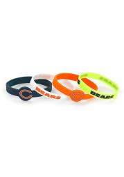 Chicago Bears 4pk Silicone Kids Bracelet