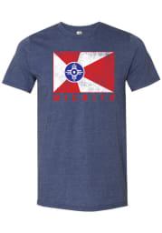Wichita Navy Blue City Flag Sort Sleeve T Shirt