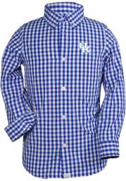 Kentucky Wildcats Youth Blue Logan Long Sleeve Fashion T-Shirt
