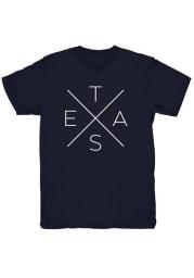 Tumbleweed Texas Navy Blue Big X Short Sleeve T Shirt