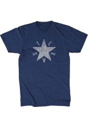Tumbleweed Texas Navy Blue DeZavala Star Flag Short Sleeve T Shirt