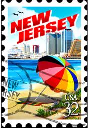 New Jersey Acrylic Keychain Keychain