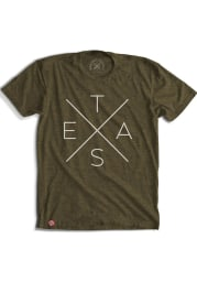 Tumbleweed Texas Green Big X Texas Short Sleeve T Shirt