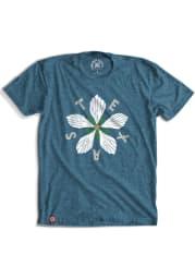 Tumbleweed Texas Teal Hibiscus Dezavala Star Short Sleeve T-Shirt
