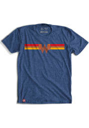 Texas Heather Royal Whataburger Retro Stripes Short Sleeve T-Shirt