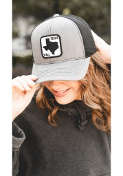 Tumbleweed Texas 2T Yall Road Sign Patch Trucker Adjustable Hat - Grey