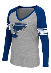 St Louis Blues Womens Grey Franchise Long Sleeve Women's V-Neck