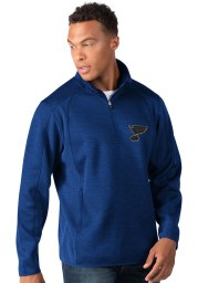 St Louis Blues Mens Blue Peacemaker Long Sleeve 1/4 Zip Pullover