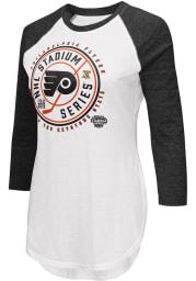 Philadelphia Flyers Womens White 2019 Stadium Series LS Tee