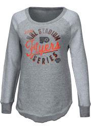Philadelphia Flyers Womens Grey 2019 Stadium Series Crew Sweatshirt