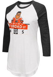 Gritty G3 Philadelphia Flyers Womens White Gritty Tailgate LS Tee