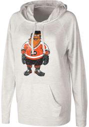 Gritty G3 Philadelphia Flyers Womens Oatmeal Gritty Pregame Hooded Sweatshirt
