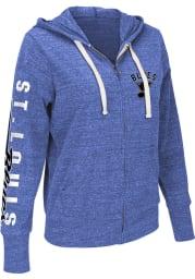 St Louis Blues Womens Blue Training Camp Long Sleeve Full Zip Jacket