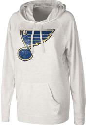 St Louis Blues Womens Oatmeal Pre-Game Hooded Sweatshirt