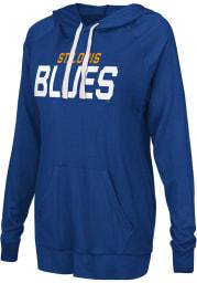 St Louis Blues Womens Blue Pre-Game Hooded Sweatshirt