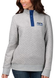 St Louis Blues Womens Grey First Hit 1/4 Zip Pullover
