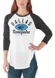 Dallas Renegades Womens White Tailgate LS Tee