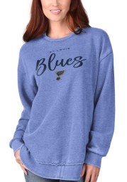 St Louis Blues Womens Blue Gertrude Vintage Crew Sweatshirt
