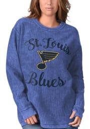 St Louis Blues Womens Blue Julie Comfy Cord Crew Sweatshirt