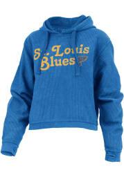 St Louis Blues Womens Blue Comfy Cord Hooded Sweatshirt