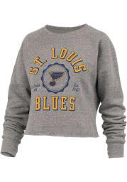 St Louis Blues Womens Grey Knobi Crew Sweatshirt