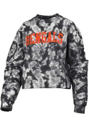 Cincinnati Bengals Womens Black Cloud Dye Crew Sweatshirt