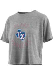 Texas Rangers Womens Grey Knobi Short Sleeve T-Shirt