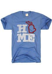 The Mitten State Michigan Blue Home Short Sleeve T Shirt