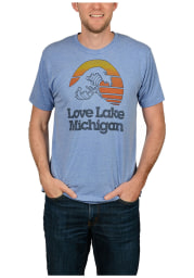 The Mitten State Michigan Light Blue Lake Michigan Short Sleeve T Shirt
