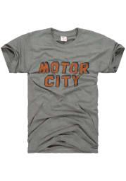 The Mitten State Detroit Grey Motor City Short Sleeve T Shirt