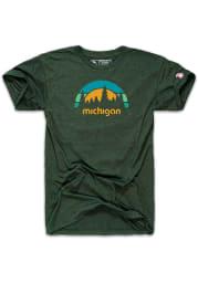 The Mitten State Michigan Green Outdoors Short Sleeve T Shirt