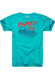 The Mitten State Michigan Light Blue Pontoon Party Short Sleeve Fashion T Shirt