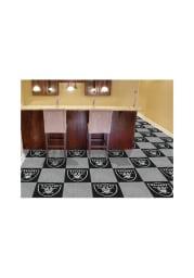 Las Vegas Raiders 18x18 Team Tiles Interior Rug