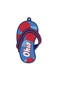 Ohio Flip Flop Keychain