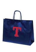 Texas Rangers 16x12 Blue Large Metallic Blue Gift Bag