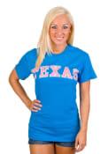 Texas Blue Neon Arch Short Sleeve T Shirt